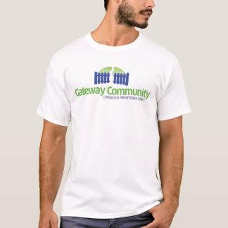 Camiseta Logotipo da comunidade da entrada