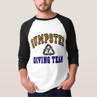 Camiseta Logotipo da equipe do mergulho do contentor