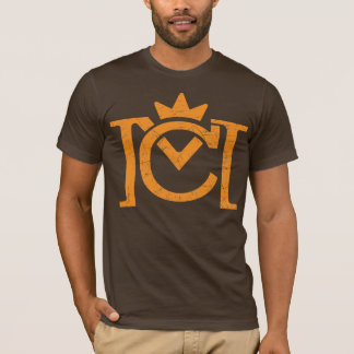 Camiseta Logotipo da letra do CM (laranja do vintage)
