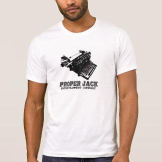 Camiseta Logotipo da máquina de escrever de Apropriado Jack