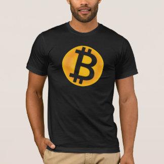 Camiseta Logotipo de Bitcoin (alaranjado)