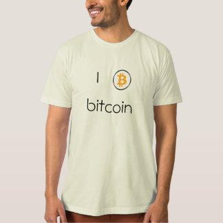 Camiseta Logotipo de Bitcoin do t-shirt dos homens