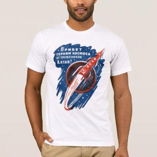 Camiseta Logotipo de CCCP no t-shirt soviético de Rocket de