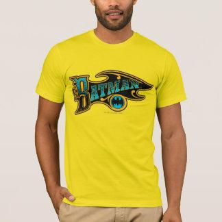Camiseta Logotipo de turquesa do vintage de Batman  
