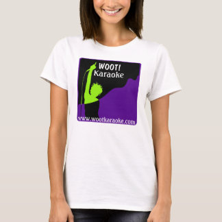 Camiseta Logotipo de Wootkaraoke, WOOT! , Karaoke,