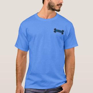 Camiseta Logotipo dianteiro e traseiro do t-shirt dos