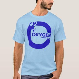 Camiseta Logotipo do azul do oxigênio