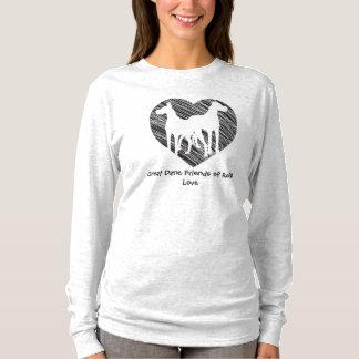 Camiseta Logotipo do coração do scribble dos amigos de