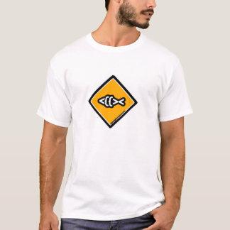 Camiseta Logotipo do cruzamento dos peixes