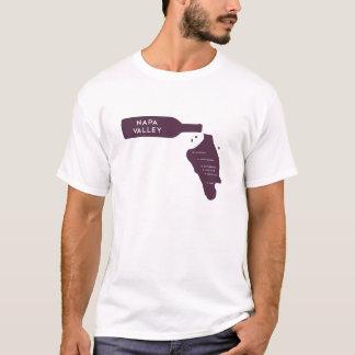 Camiseta Logotipo do derramar da garrafa de vinho das