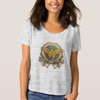 Camiseta Logotipo do esboço da folha da mulher maravilha