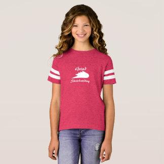 Camiseta logotipo do esporte da roupa do skate da moagem