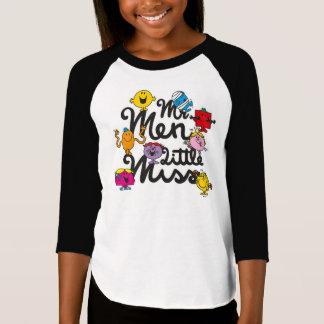 Camiseta Logotipo do grupo do Sr. Homem Pequeno senhorita |