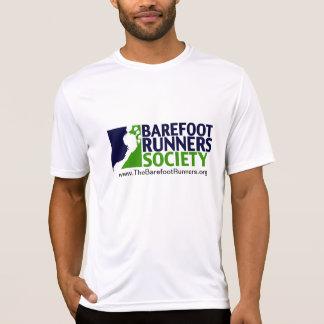 Camiseta logotipo do microfiber dos homens+URL