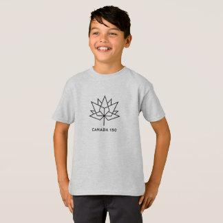 Camiseta Logotipo do oficial de Canadá 150 - esboço preto