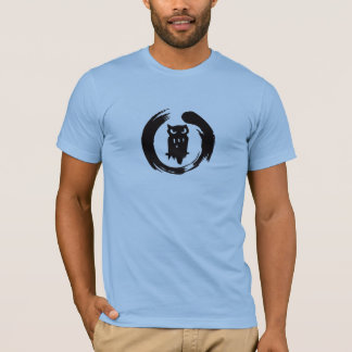 Camiseta Logotipo do preto do zen da buzina da equipe