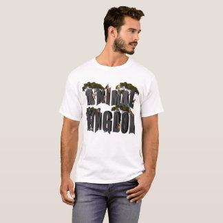 Camiseta Logotipo do reino animal com animais,