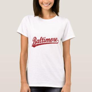Camiseta Logotipo do roteiro de Baltimore no vermelho