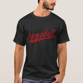Camiseta Logotipo do roteiro de Campbell no vermelho