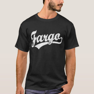Camiseta Logotipo do roteiro de Fargo no branco