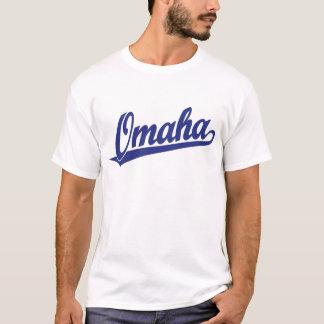 Camiseta Logotipo do roteiro de Omaha no azul