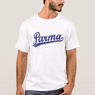 Camiseta Logotipo do roteiro de Parma no azul afligido