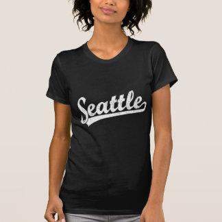 Camiseta Logotipo do roteiro de Seattle no branco
