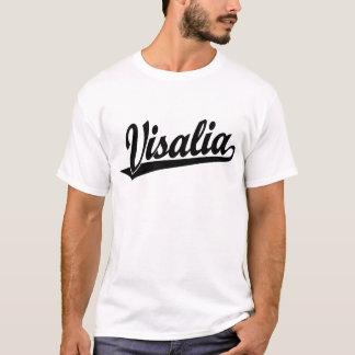 Camiseta Logotipo do roteiro de Visalia no preto