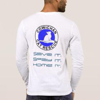 Camiseta Logotipo do salvamento do gato de Cowichan