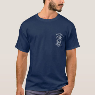Camiseta Logotipo do SC de Stromness no t-shirt do marinho