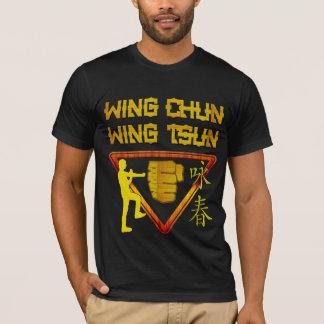 Camiseta Logotipo do triângulo de Tsun da asa de Chun da