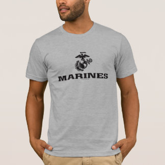 Camiseta Logotipo do USMC empilhado - preto