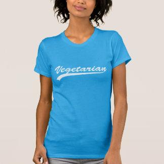Camiseta Logotipo do vegetariano (Blue/W)