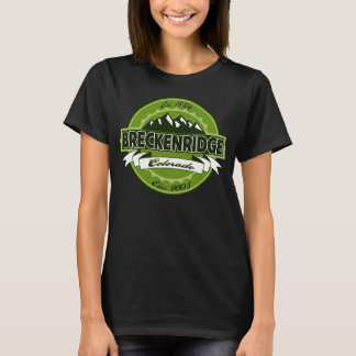 Camiseta Logotipo do verde da etiqueta de Breckenridge