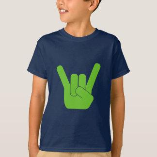 Camiseta Logotipo do verde do sinal da rocha