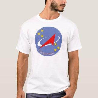 Camiseta Logotipo do vôo de Roscosmos redondo