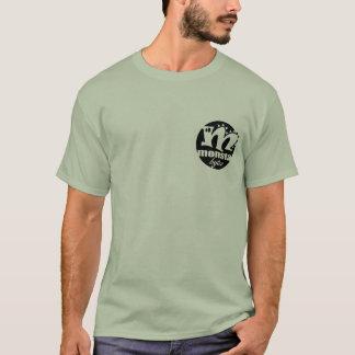 Camiseta logotipo dos bytes do monsta - preto
