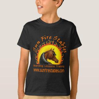 Camiseta Logotipo dos estábulos do fogo de Sun na parte