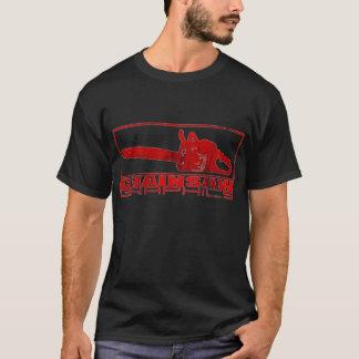 Camiseta Logotipo dos gráficos da serra de cadeia