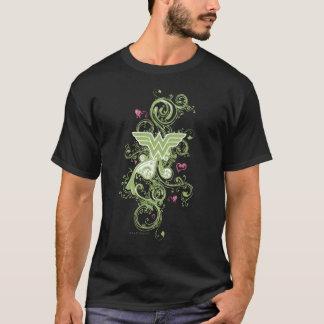 Camiseta Logotipo dos redemoinhos do verde da mulher