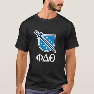 Camiseta Logotipo e letras empilhados - branco