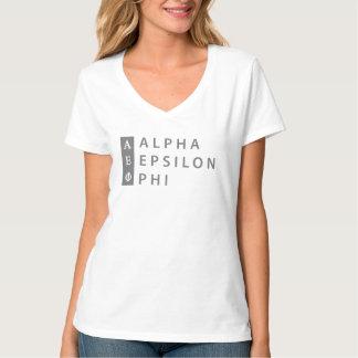 Camiseta Logotipo empilhado   alfa da phi do épsilon