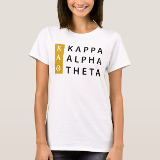 Camiseta Logotipo empilhado | alfa da teta do Kappa