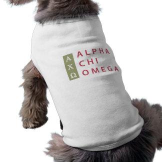 Camiseta Logotipo empilhado | alfa de Omega do qui
