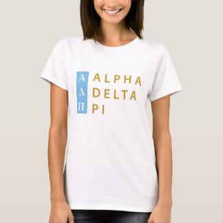 Camiseta Logotipo empilhado | alfa do Pi do delta