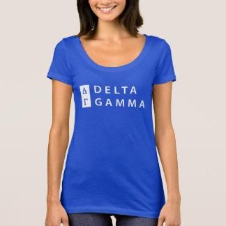 Camiseta Logotipo empilhado   da gama do delta