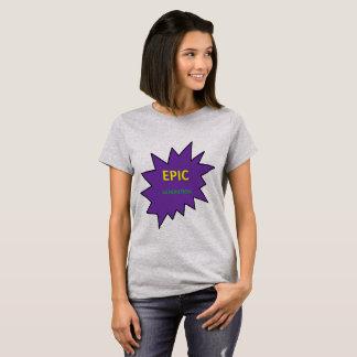 Camiseta Logotipo ÉPICO do t-shirt das mulheres da geração