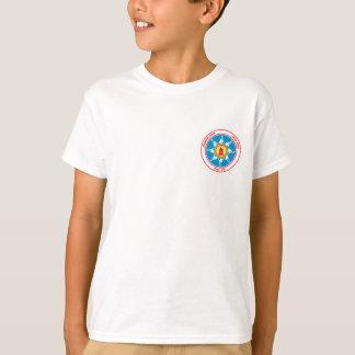 Camiseta logotipo ereto do bolso do tribo da rocha