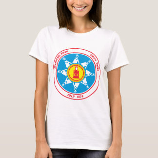 Camiseta Logotipo ereto do tribo da rocha