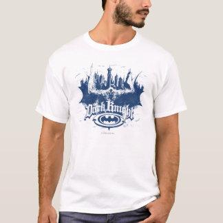Camiseta Logotipo escuro do azul da arquitectura da cidade